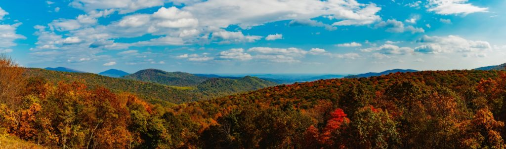 Bue Ridge Mountains in Virginia